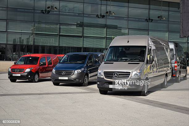 mercedes-benz lcv vehicles - mercedes stock photos and pictures
