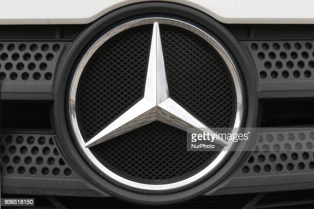 MercedesBenz logo is seen in Gdansk Poland on 22 March 2018 Since the April 1st 2018 City of Gdansk implements a new waste segregation system divided...