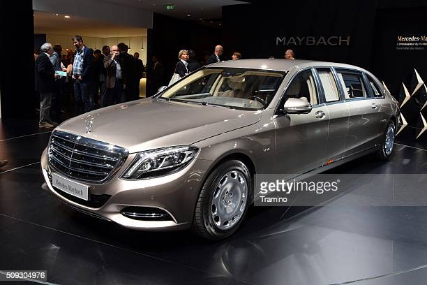 mercedes-benz maybach on the motor show - mercedes benz s class stock photos and pictures