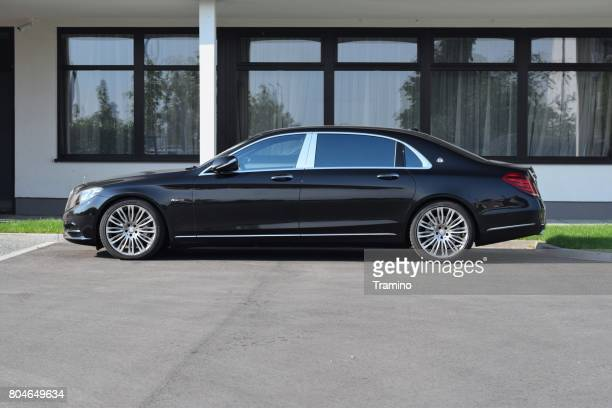 mercedes-benz maybach s600 on the street - mercedes stock photos and pictures