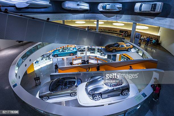 mercedes-benz museum - mercedes benz stock pictures, royalty-free photos & images