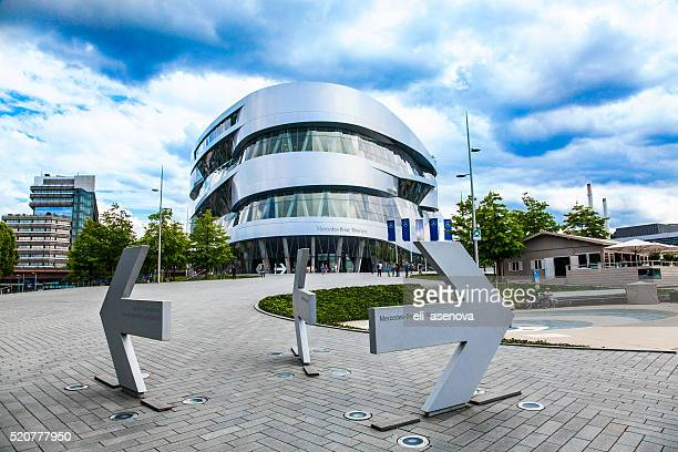 mercedes-benz museum stuttgart - stuttgart stock pictures, royalty-free photos & images
