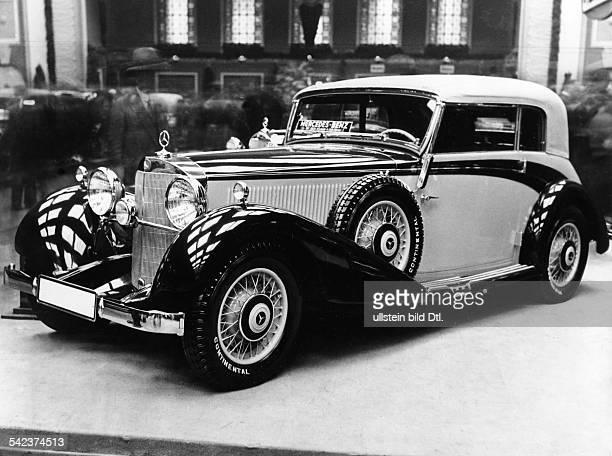 MercedesBenz Schwingachser mit 8Zylinder KompressorMotor als viersitziges Kabriolett1933