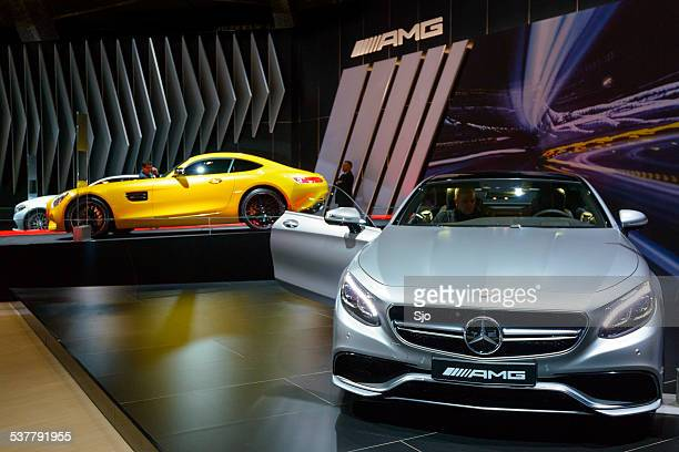 mercedes-benz s-class coupe and mercedes-amg gt - mercedes benz s class stock photos and pictures