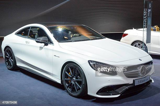 mercedes-benz s-class coupe luxury car - mercedes benz s class stock photos and pictures