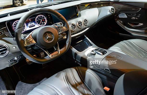 mercedes-benz s-class s65 amg coupe interior - mercedes benz s class stock photos and pictures