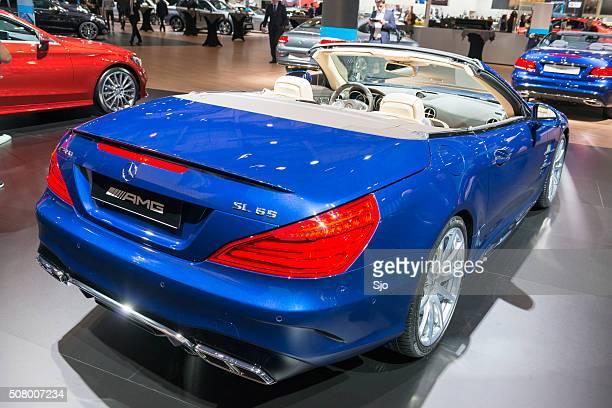 mercedes-benz sl convertible sports car - mercedes benz stock photos and pictures