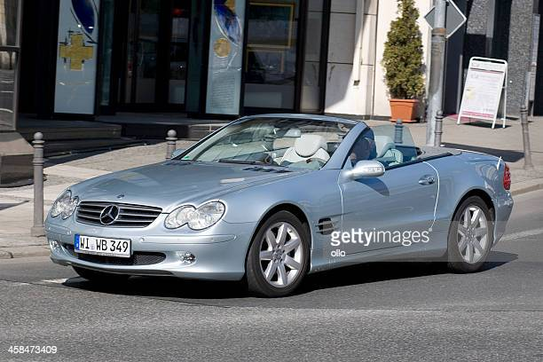 mercedes-benz sl-class convertible (r 230) - mercedes benz stock pictures, royalty-free photos & images