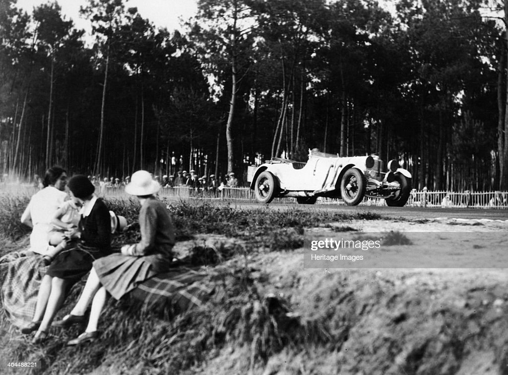 Mercedes-Benz SS in action at the Le Mans 24 Hours, France, 1930. : News Photo