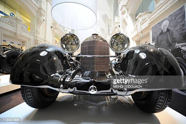 "Mercedes-Benz SSK ""Comte Trossi"" of 1930 is shown on April 27, 2011 at the Musee des Arts Decoratifs museum in Paris, during the ""L'art de..."