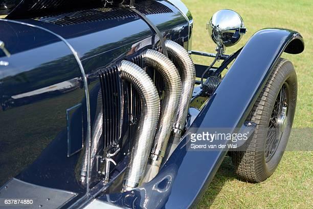 "mercedes-benz ssk sport classic car detail - ""sjoerd van der wal"" stock pictures, royalty-free photos & images"