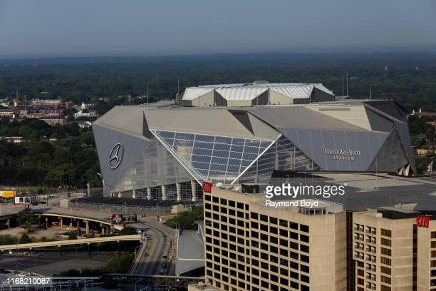 Mercedes-Benz Stadium , home of the Atlanta Falcons football team and Atlanta United FC soccer team and CNN Center in Atlanta, Georgia on July 27,...