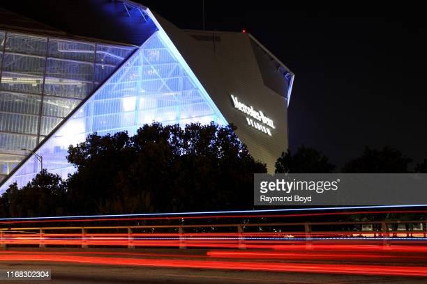 Mercedes-Benz Stadium, home of the Atlanta Falcons football team and Atlanta United FC soccer team in Atlanta, Georgia on July 27, 2019.
