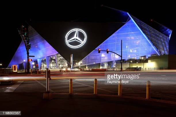 MercedesBenz Stadium home of the Atlanta Falcons football team and Atlanta United FC soccer team in Atlanta Georgia on July 27 2019