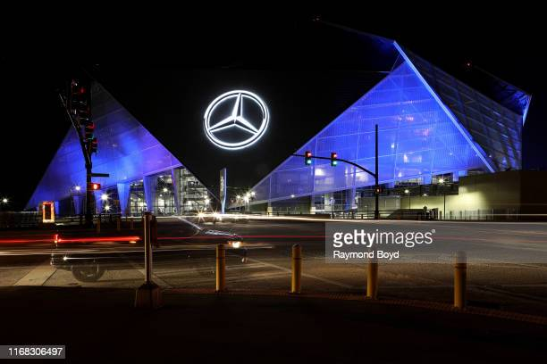 Mercedes-Benz Stadium, home of the Atlanta Falcons football team and Atlanta United FC soccer team in Atlanta, Georgia on July 27, 2019.
