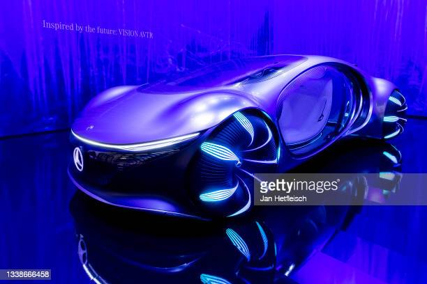 Mercedes-Benz Vision Avtr concept car is presented at the Mercedes-Benz stand during the 2021 Munich Motor Show IAA Mobility on September 06, 2021 in...