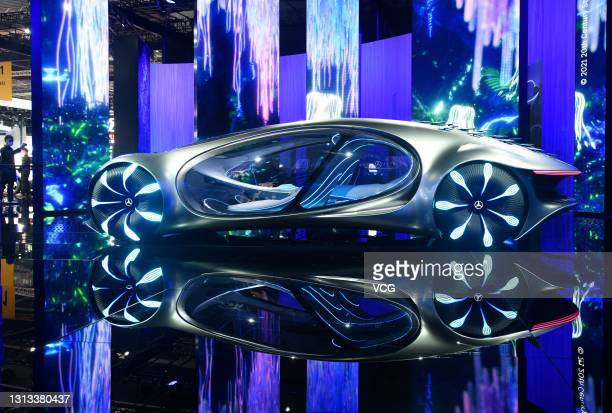 Mercedes-Benz Vision AVTR concept vehicle is on display during the 19th Shanghai International Automobile Industry Exhibition at National Exhibition...