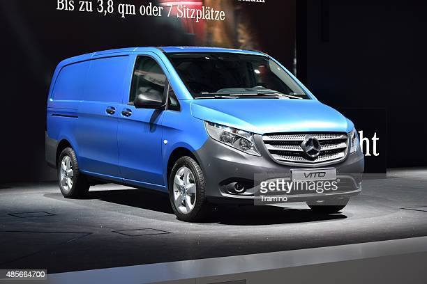 mercedes-benz vito on the motor show - mercedes benz stock photos and pictures
