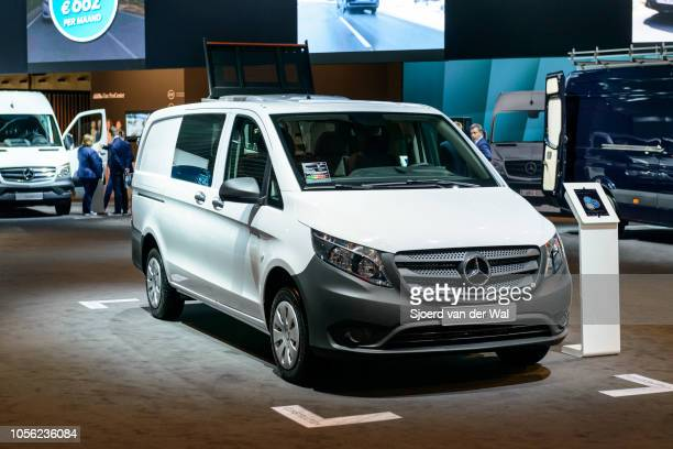 MercedesBenz Vito panel van light commercial vehicle on display at Brussels Expo on January 13 2017 in Brussels Belgium The Mercedes Benz VIto is...