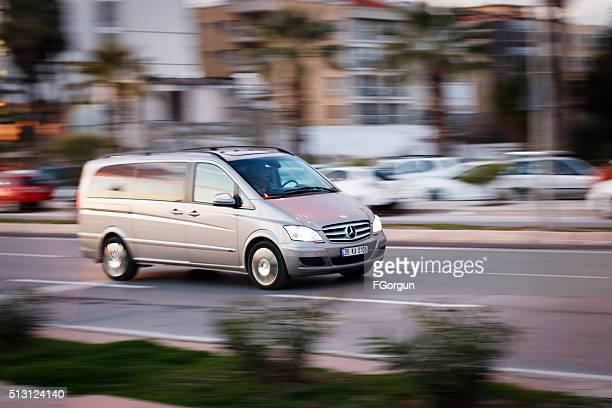 mercedes-benz vito van people carrier - mercedes stock photos and pictures