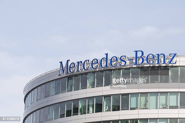 MercedesBenzbuilding in Warsaw Poland on 13 October 2016