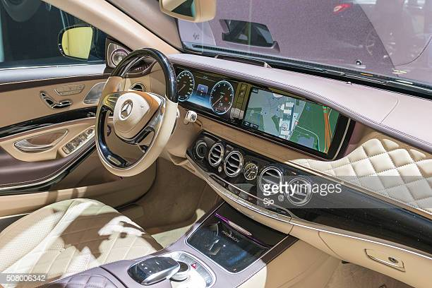 mercedes-maybach s500 4matic dashboard - mercedes benz s class stock photos and pictures