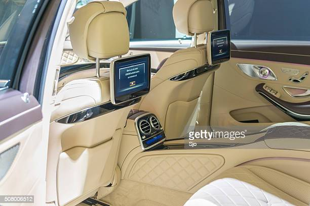 mercedes-maybach s500 4matic interior - mercedes benz s class stock photos and pictures