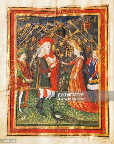 Mercenary Commander Francesco Sforza marries Bianca Maria Visconti Italy 15th century