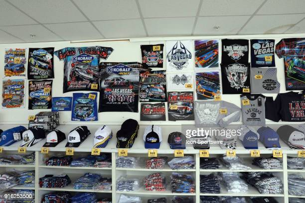 Merchandise available for sale for the Kobalt 400 at the Las Vegas Motor Speedway in Las Vegas NV