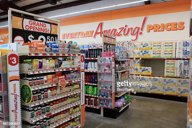 Merchandise is displayed for sale at a Family Dollar Stores Inc location in Mansfield Texas US on Tuesday Jan 7 2014 Family Dollar Stores Inc is...