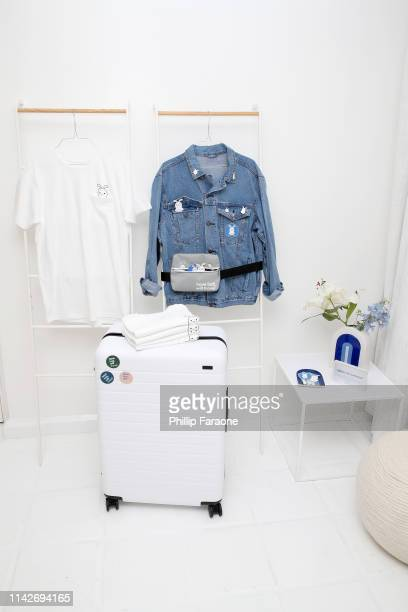 Merchandise on display at the American Express Platinum House at the Avalon Hotel Palm Springs on April 14 2019 in Palm Springs California