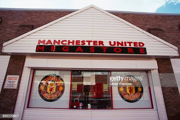 Merchandising in the Manchester United club souvenir store
