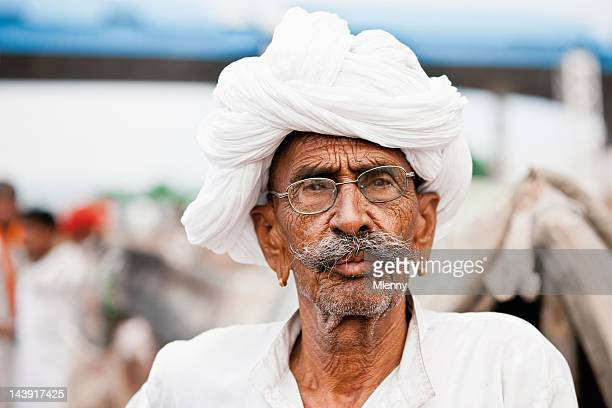 Merchant at Pushkar Camel Fair India Real People Portrait