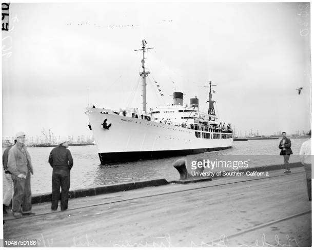 Merchant marine officer's training ship 'Golden Bear' 31 March 1952 Kenneth Doty 19 years Norman Sherer 20 years Walter Newton 18 years Robert Hahn...