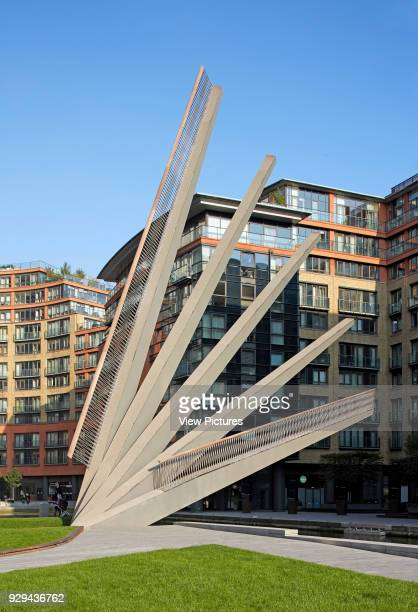 Merchant Square Footbridge London United Kingdom Architect Knight Architects Limited 2014 Near view with bridge in elevated position