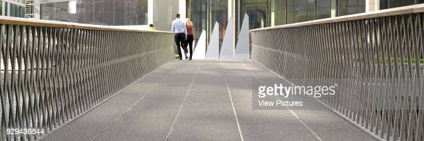 Merchant Square Footbridge London United Kingdom Architect Knight Architects Limited 2014 Day time view with bridge in open position
