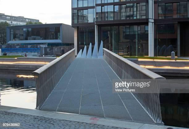 Merchant Square Footbridge London United Kingdom Architect Knight Architects Limited 2014 Early twilight view with bridge in open position