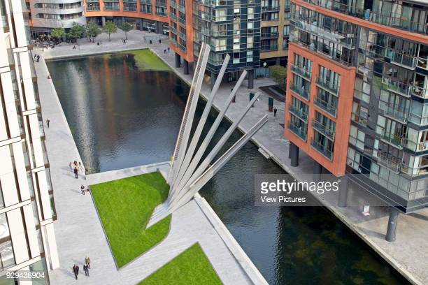 Merchant Square Footbridge London United Kingdom Architect Knight Architects Limited 2014 High level view with bridge in elevated position