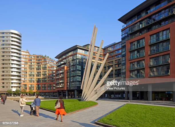 Merchant Square Footbridge London United Kingdom Architect Knight Architects Limited 2014 Distant view with bridge in elevated position
