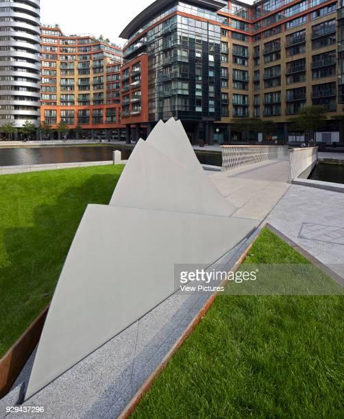 Merchant Square Footbridge London United Kingdom Architect Knight Architects Limited 2014 View of bridges counterweights