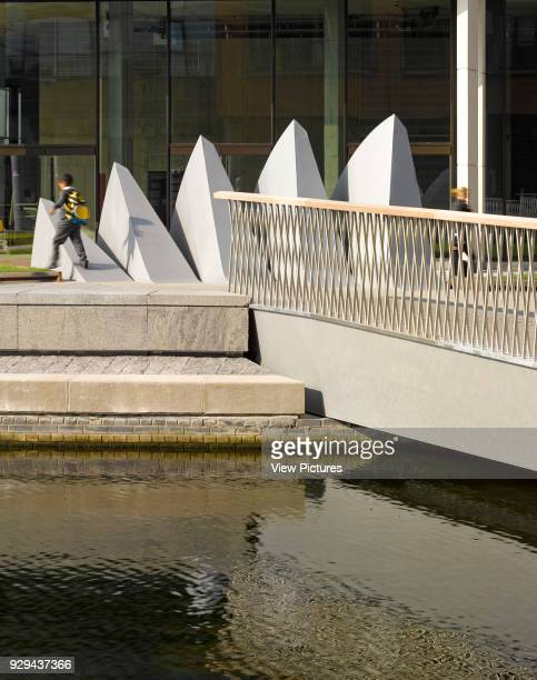 Merchant Square Footbridge London United Kingdom Architect Knight Architects Limited 2014 Near view with bridge fully open