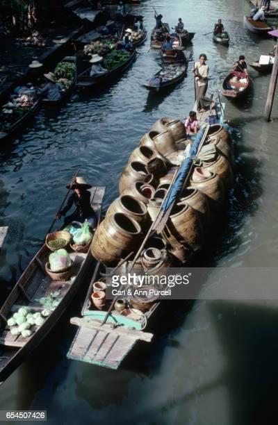Merchants' Boats at a Bangkok Floating Market