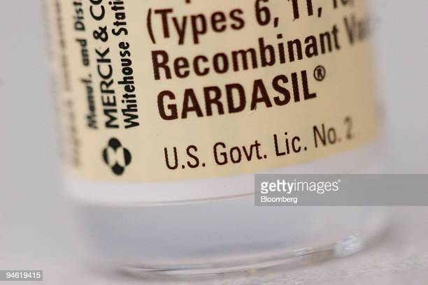 Merck cervical cancer vaccine Gardasil is arranged for an illustration at a Cambridge Massachusetts pharmacy on Thursday March 1st Merck Co the...