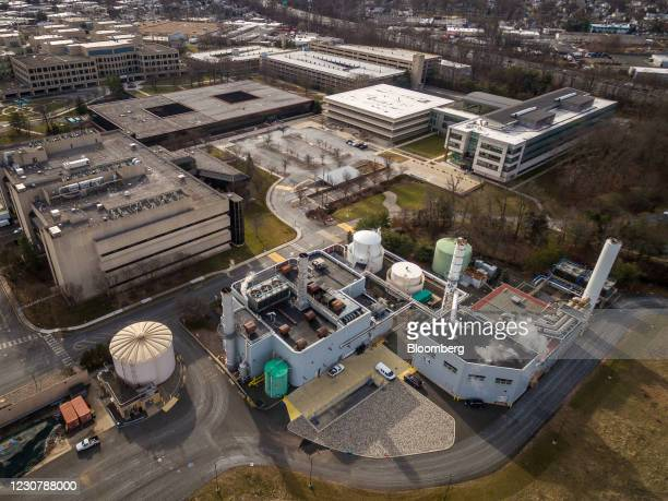 Merck & Co. Headquarters in Kenilworth, New Jersey, U.S., on Monday, Jan. 25, 2021. Merck & Co.Is discontinuing development of its two experimental...