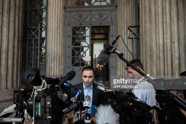 Merck legal counsellor Florent Bensadoun talks to journalists at the courthouse of Lyon centraleastern France on June 25 after the ruling in the...