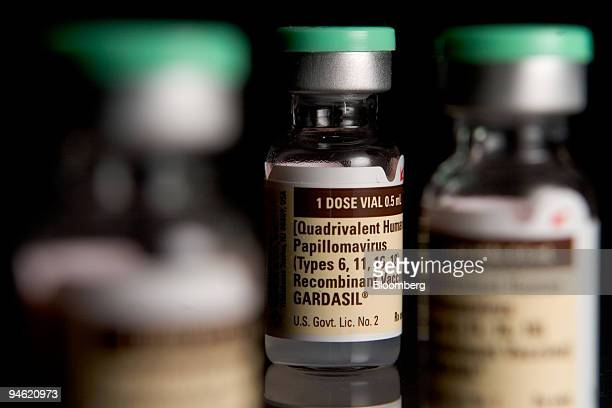 Merck's cervical cancer vaccine Gardasil is arranged for an illustration at Skenderian Apothecary in Cambridge Massachusetts Wednesday Feb 28 2007...