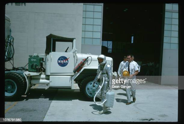 Mercury Astronaut Walking to Launch Pad