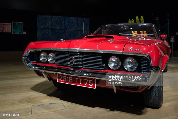 Mercury Cougar XR7 convertible , which had a starring role in the classic Bond film 'On Her Majestys Secret Service' is displayed at Bonhams New Bond...