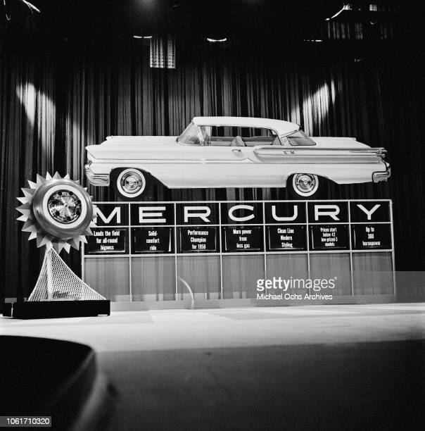 Mercury Montclair Phaeton Coupe at a showroom 1958