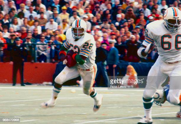 Mercury Morris running back for the Miami Dolphins during an NFL football game against the Baltimore Colts in the Orange Bowl Miami Florida December...